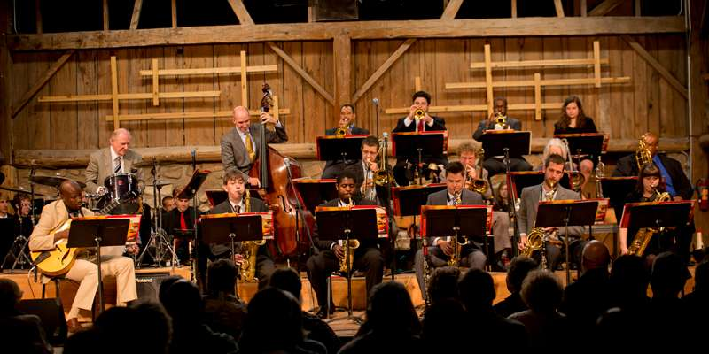 Professional jazz musicians from across the country perform at Birch Creek.