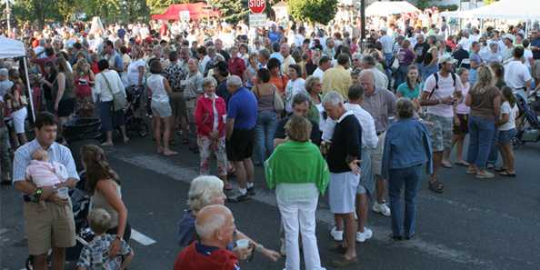 Downtown Night and A Taste of Elkhart Lake has become a popular evening for residents and visitors.