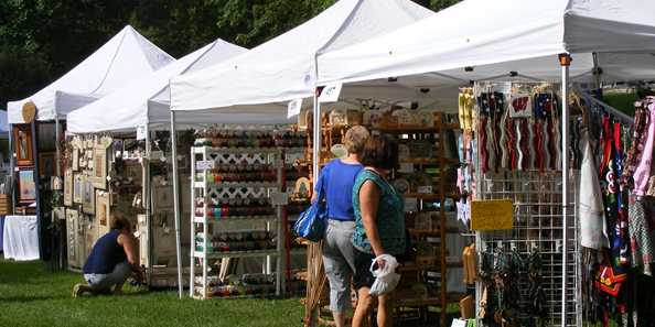 Crafts for every taste are available at the Art in the Park Craft Fair