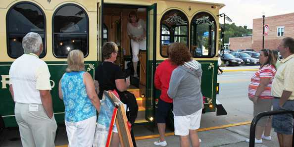 Trolley Rides at the 2017 Jazz and Blues Crawl