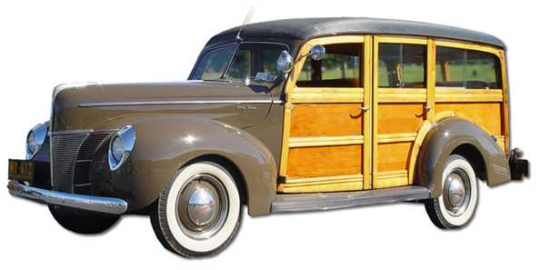 Vintage woodie car