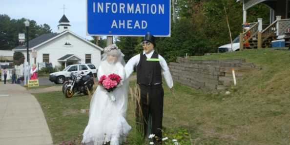 Look who's getting hitched at the Phelps Annual Scarecrow Fest every September!