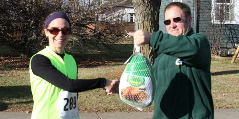 Best Female Finisher - Here's your turkey!