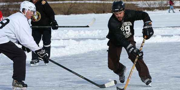The pond hockey tournament is one of the biggest draws for Chili-Fest. Watch, or play!