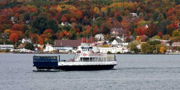 Fall color viewing from the Madeline Island Ferry.