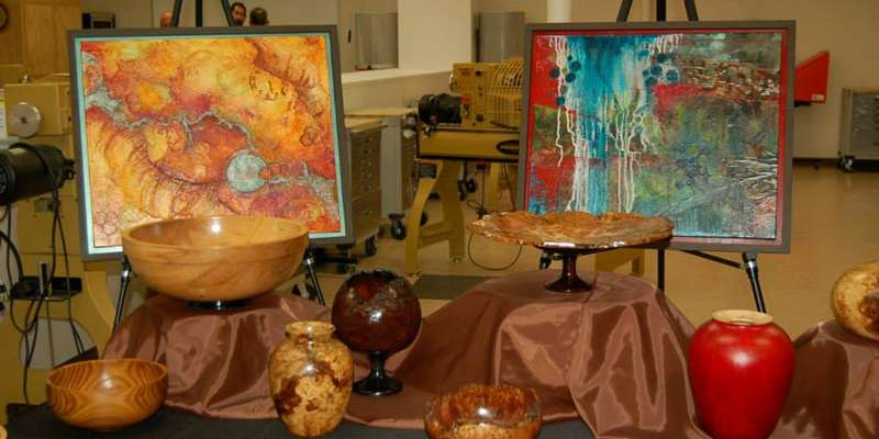 Some of the art presented at Gallery Nite in the Old Main District.