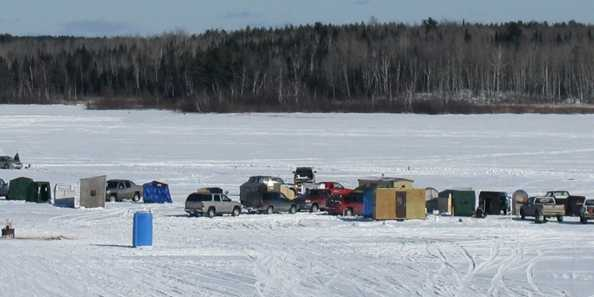 Ice Fishing on Lake Duroy