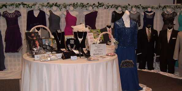 Mother-of-the-Bride and formal attire are available through our local area merchants.