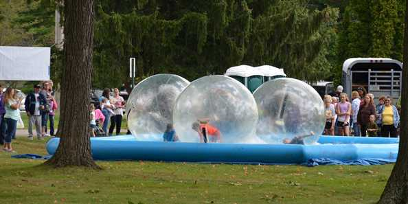 Sea Hamster Balls are popular with the kids!