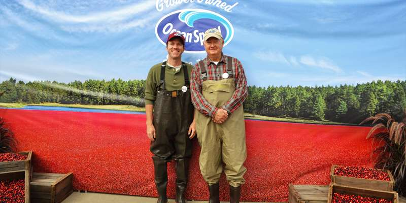 """The Cranberry Guys"" from the famous Ocean Spray commercials were spotted doing photo ops at the 2015 Fest!"