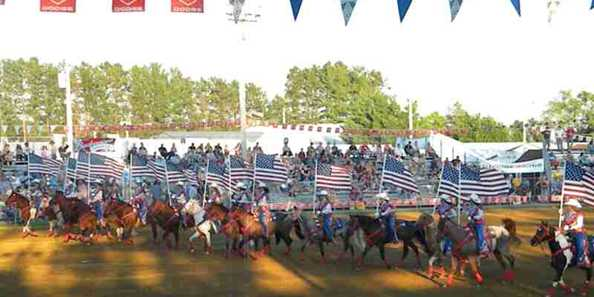 Opening Ceremony at Spooner Rodeo