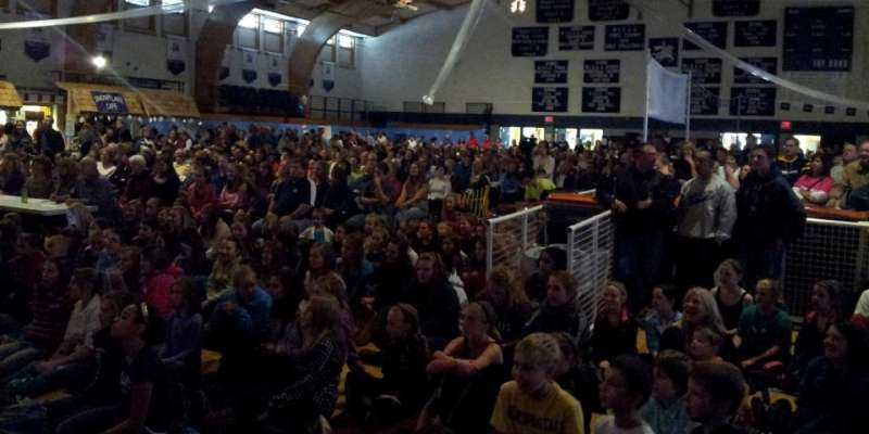 Alpine Holiday Lip Sync Contest - packed gym 2012.
