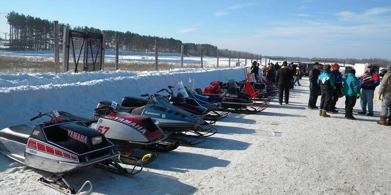 Vintage & Antique Snowmobiles at the Snowmobile Show in Spooner