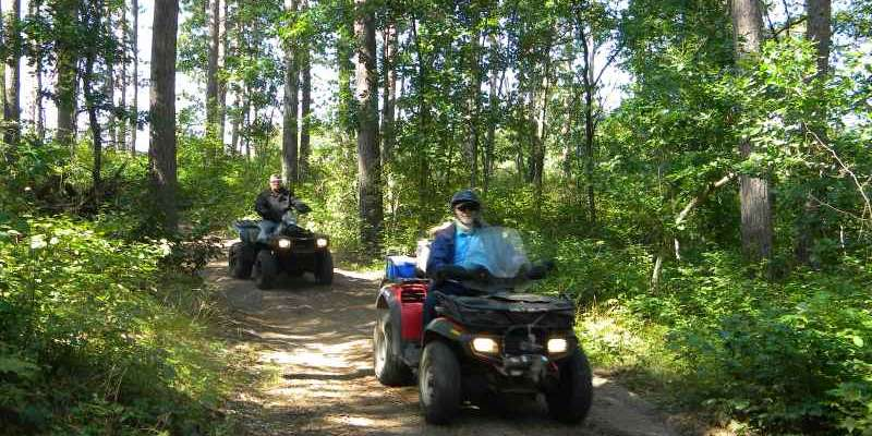 ATVing in Washburn County