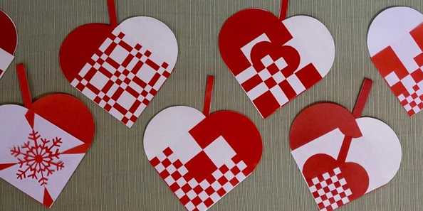 Scandinavian Woven Paper Heart Baskets, taught by Becky Rehl