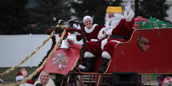 Of course Santa's a cheesehead! Catch the jolly old man during Oconomowoc's Christmas parade.