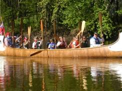 Image for Fox of The River Voyageur Canoe One Hour Paddle