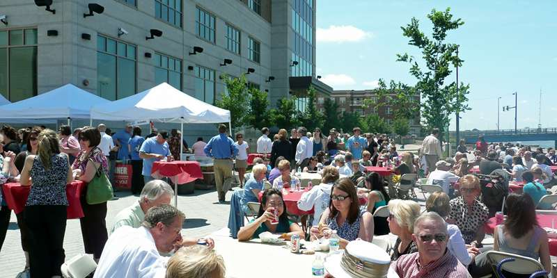 Enjoy lunch at Dine on the Deck, Wednesdays on the CityDeck in downtown Green Bay.