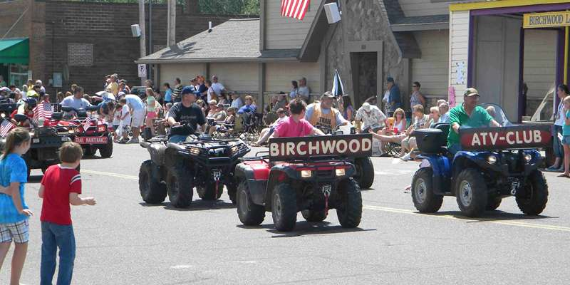 Parade at the Birchwood Bluegill Festival