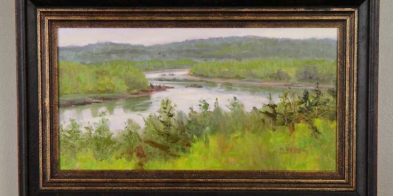 Chippewa River by Doug Berg oil on canvas