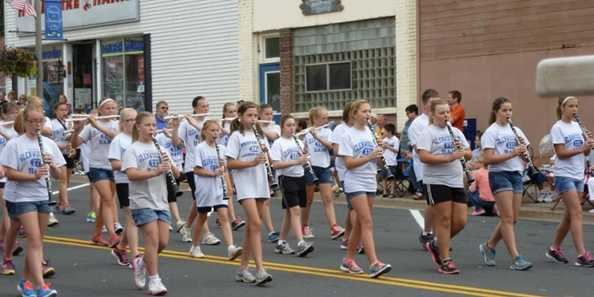 Jr High Band in the parade.