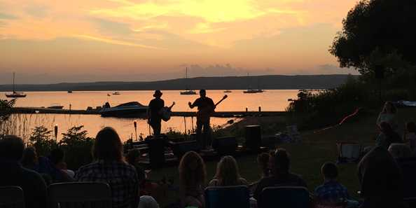 Live music each night during the sunset. Then, the films roll!