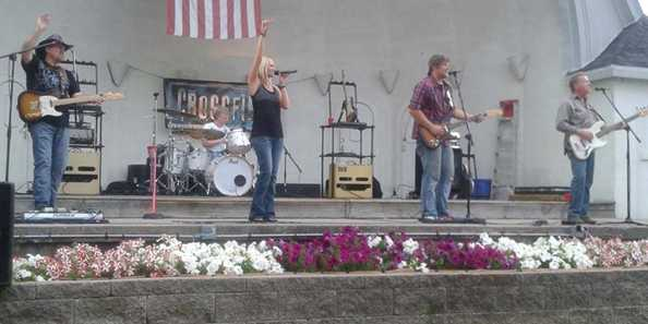 Milwaukee Country Rock band, Crossfire played at the 2014 summer concert series.