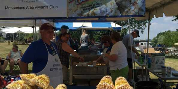 Fresh Kettle Corn from our local Kiwanis.