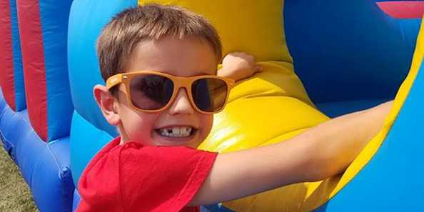 Bouncy houses are one of the fun freebies to jump into at Kids Fest.