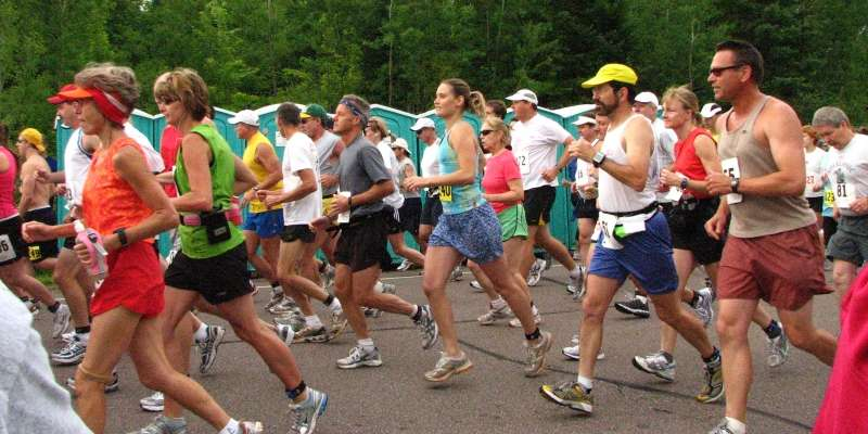 Another start to Wisconsin's oldest running race - the Paavo Nurmi Marathon.