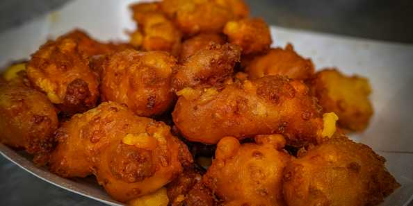 Deep fried cheese curds, the ultimate fair food!