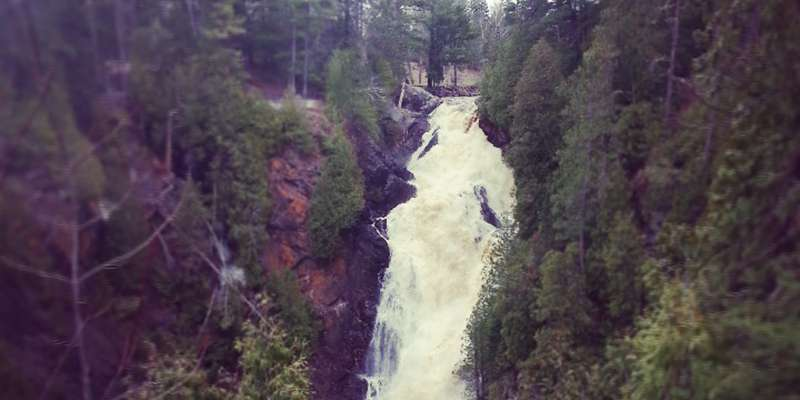 Big Manitou Falls at Pattison State Park just outside of Superior.