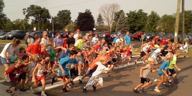 The Freedom Five 5K Walk/Run and the Mini-5 begin the day of festivities on July 4th in Siren.