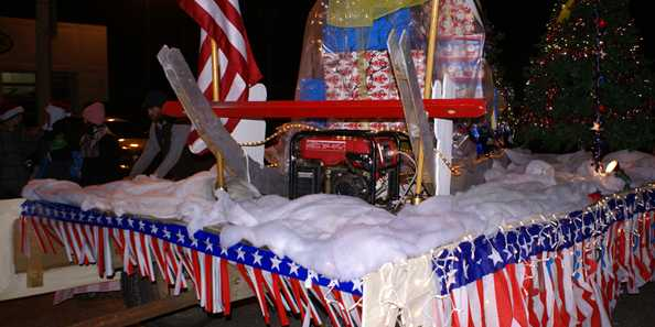 "Float at the ""Best Little Lighted Parade in the Valley"""