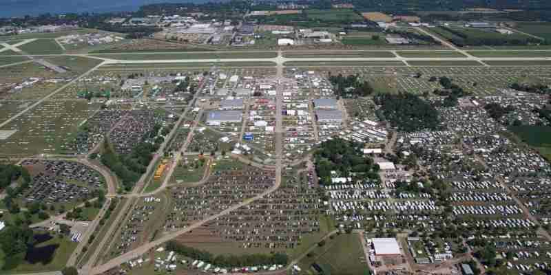 Aerial View of AirVenture 2011.
