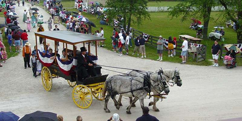 A historic Independence Day parade will be held at Old World Wisconsin on July 4, 2015.