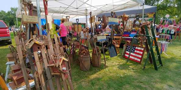 100 vendor craft fair on Saturday and Sunday of the event.