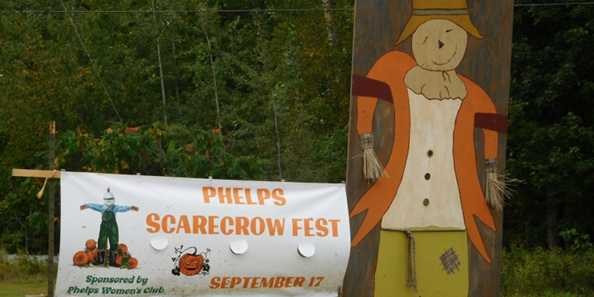 Annual Scarecrow Fest in Phelps every September - Everyone's Invited!