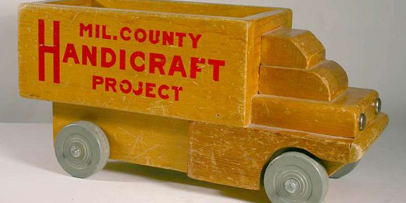 Toy Truck, George Burns, Milwaukee Handicraft Project, Wood, (ca. 1935-1943) Lent by the Jody and Dick Goisman Collection
