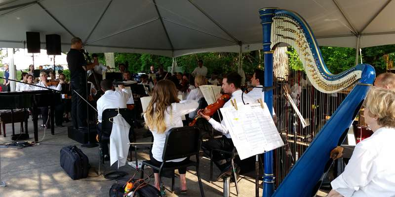 The Orchestra up close.
