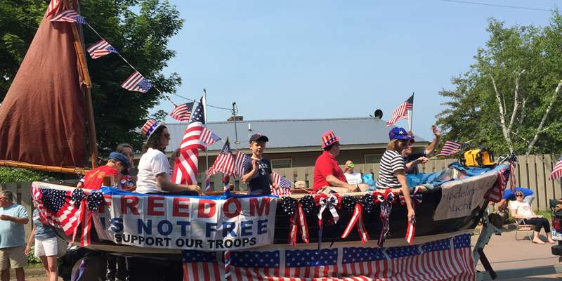 The 4th of July parade on Madeline Island is full of hometown floats sure to make you smile!