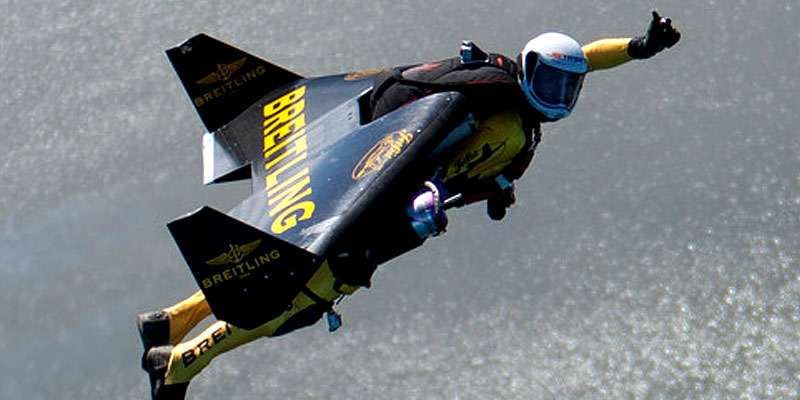 Jetman Yves Rossy will soar through the air above AirVenture 2013.