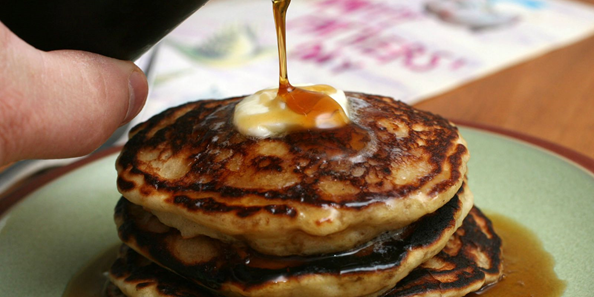 Enjoy a delicious hot pancake breakfast, with your choice of buttermilk or potato pancakes!