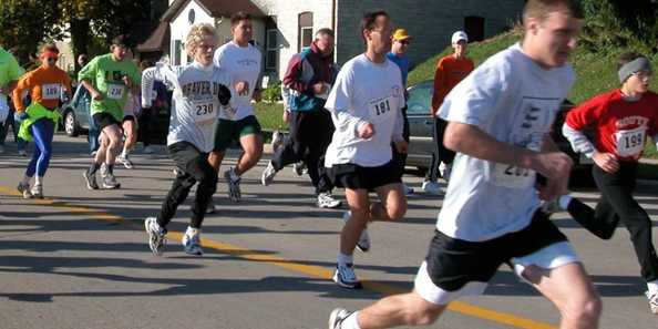 And they are off!  Start the morning off right with the Audubon Days Run & Walk.