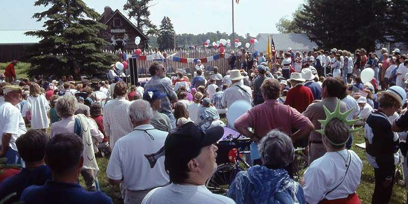 Fourth of July celebrants at Madeline Island Museum