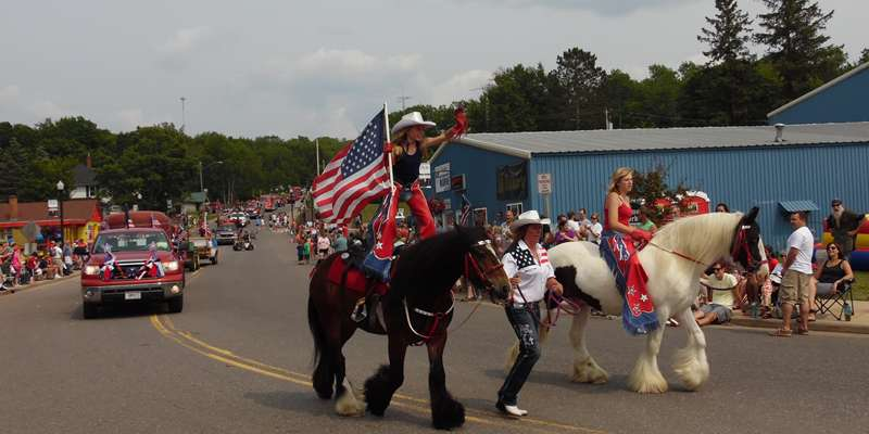 Enjoy an old-fashioned small town parade!