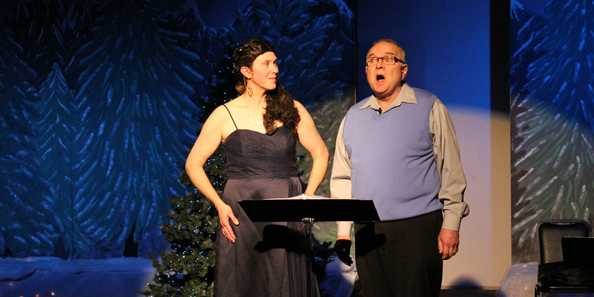 Tom Clegg & Kerrylynn Kraemer-Mahlendorf singing in Celtic Christmas 2014
