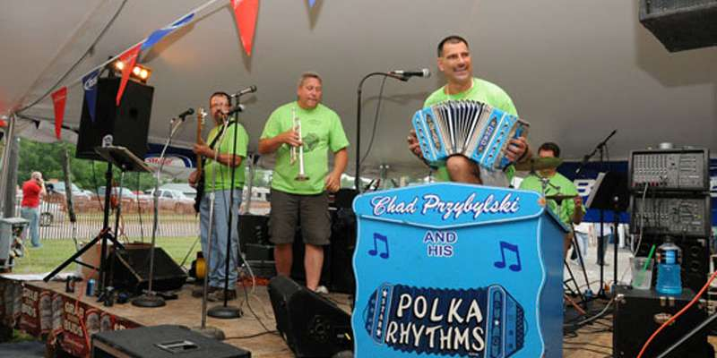 Chad Przybylski & His Polka Rhythms entertained the crowd.