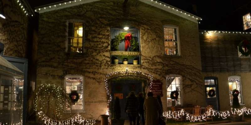 Cedar Creek Winery lit up for Christmas festivities