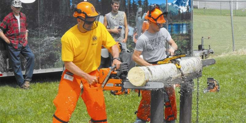 Lumberman's Day chainsaw contest by Eric Knudson